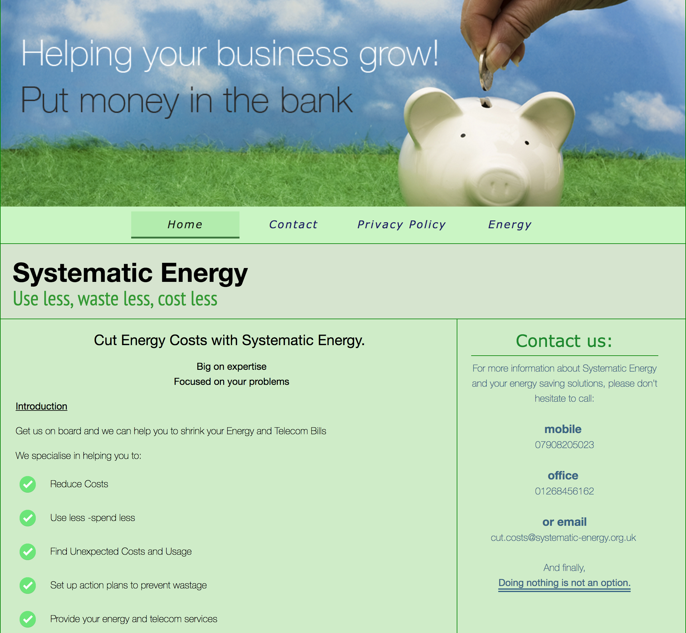 Systematic EnergyHome page image
