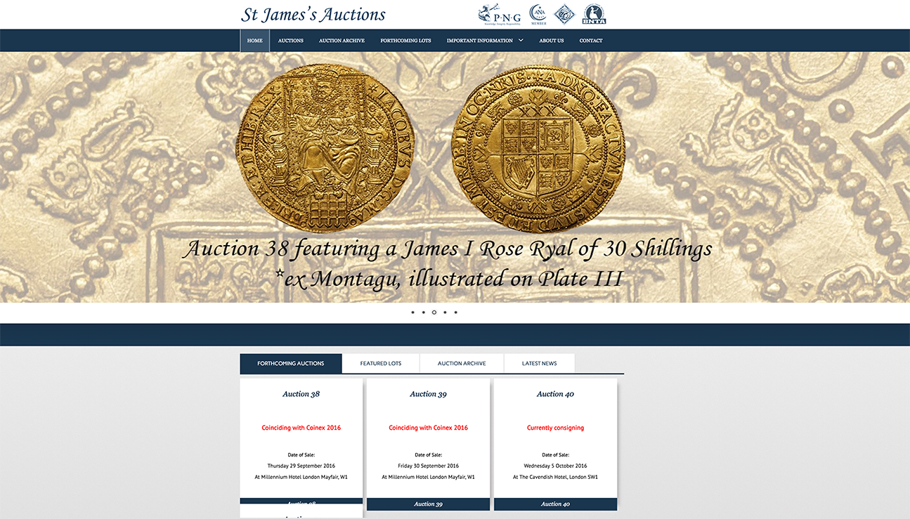 St James Auctions home page image