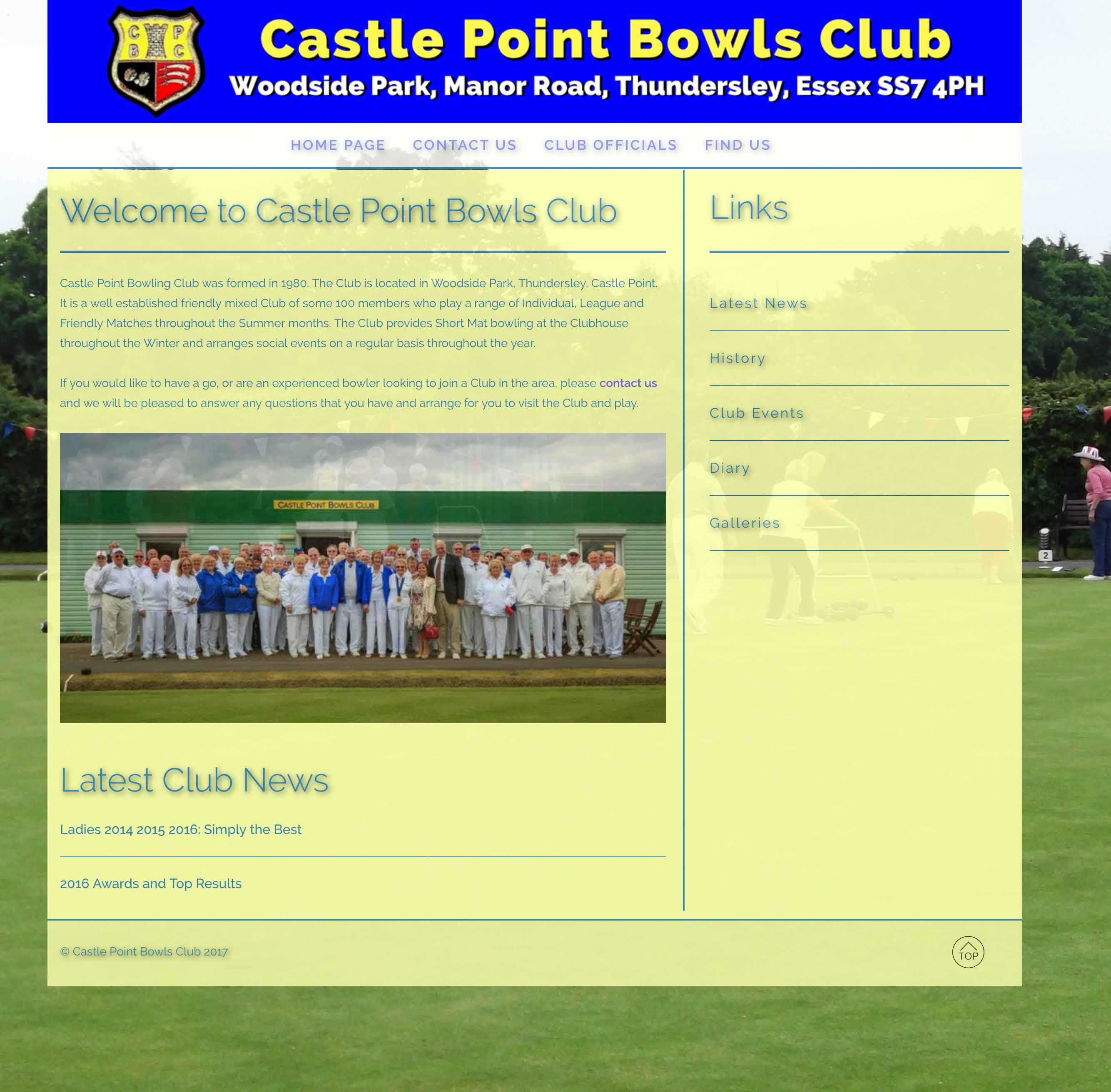 Castle Point Bowls Project Image